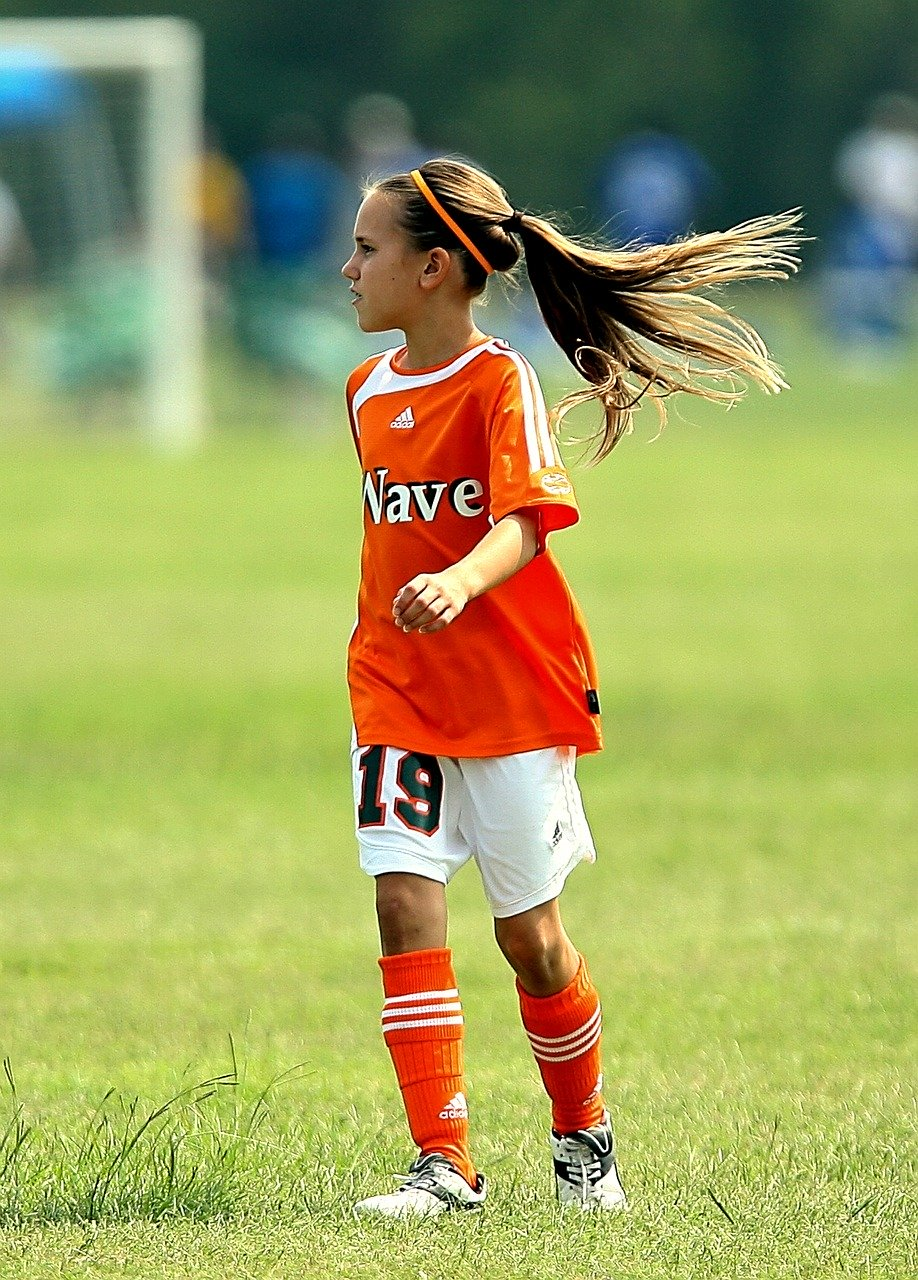 soccer, player, girl