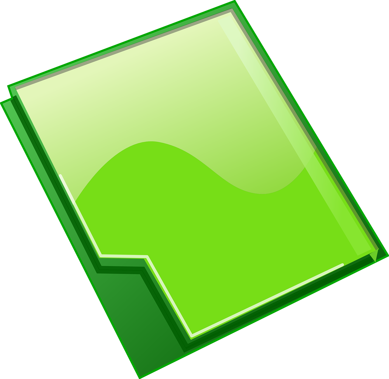 folder, green, office