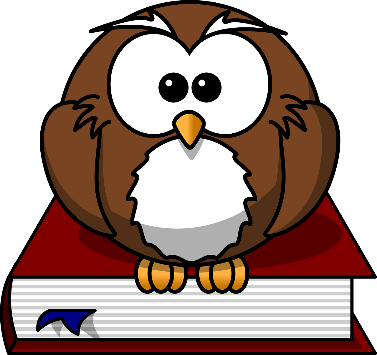 owl, bird, book