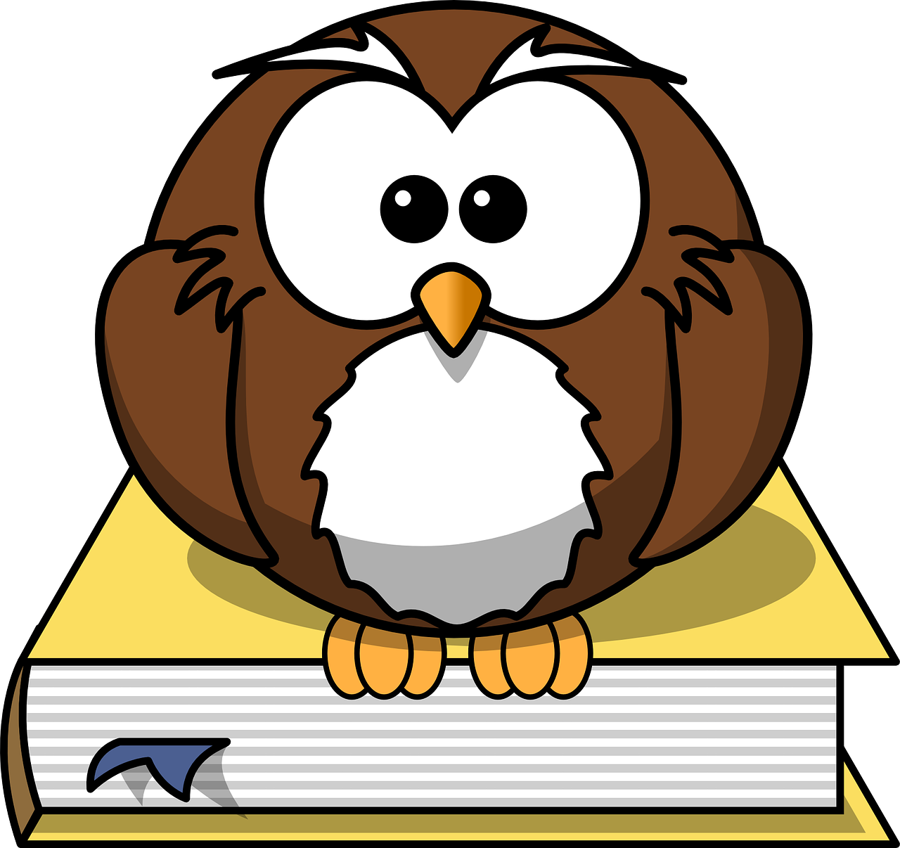 owl, book, animal