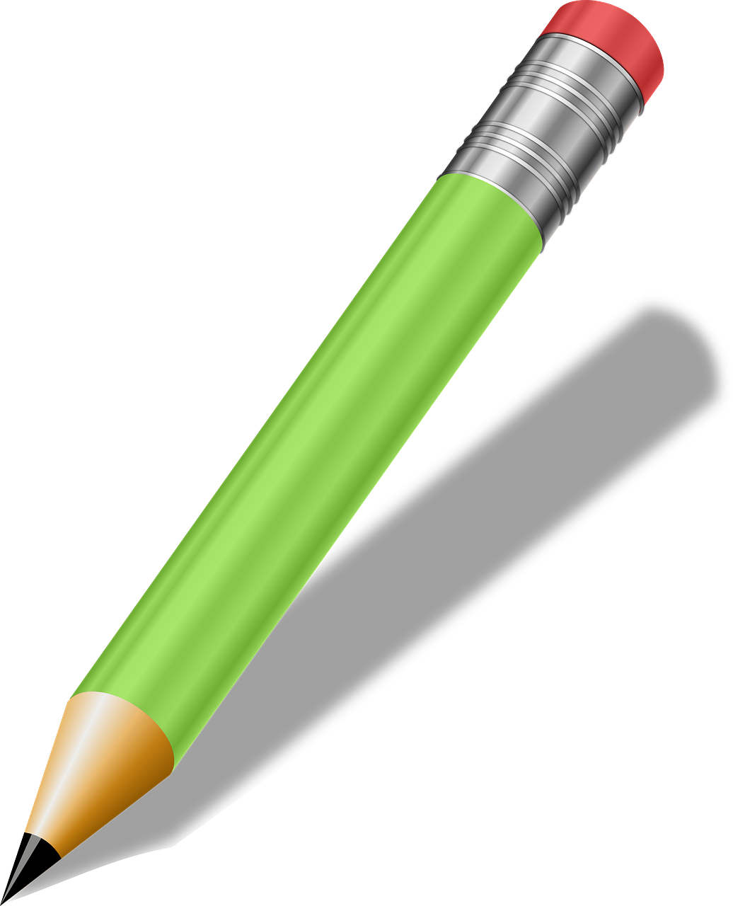 pencil, green, writing tools