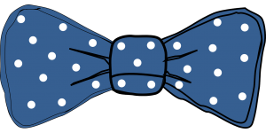 tie, dots, bow