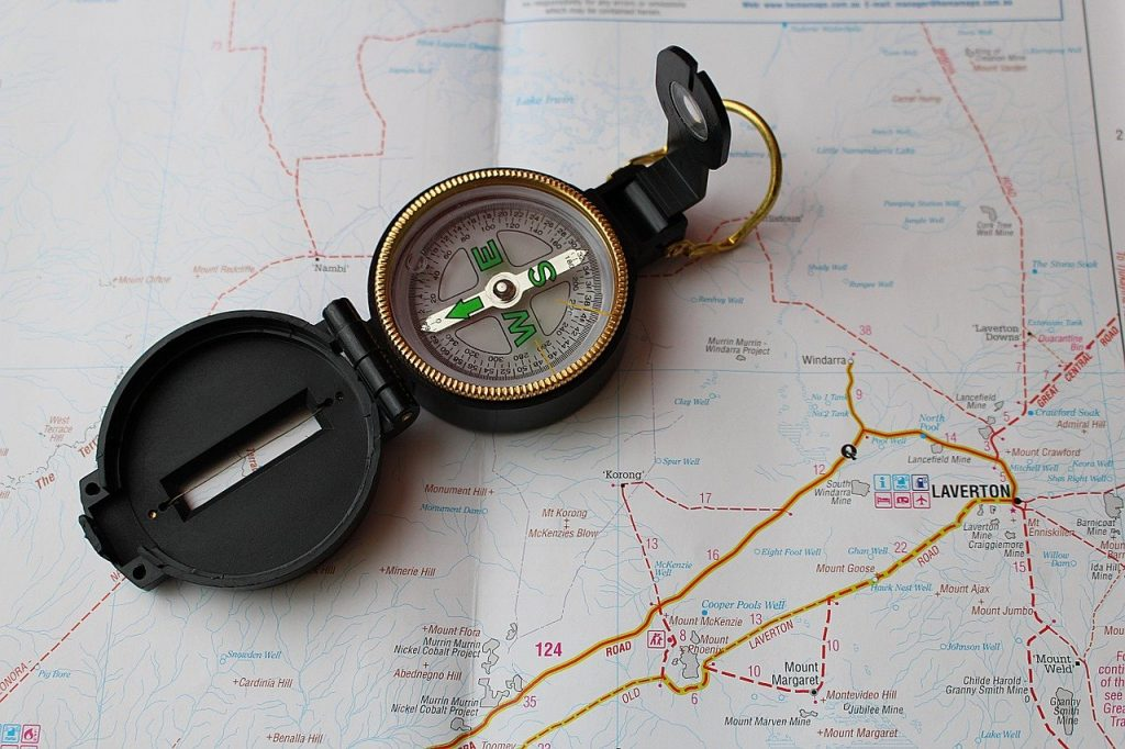 compass, map, navigation