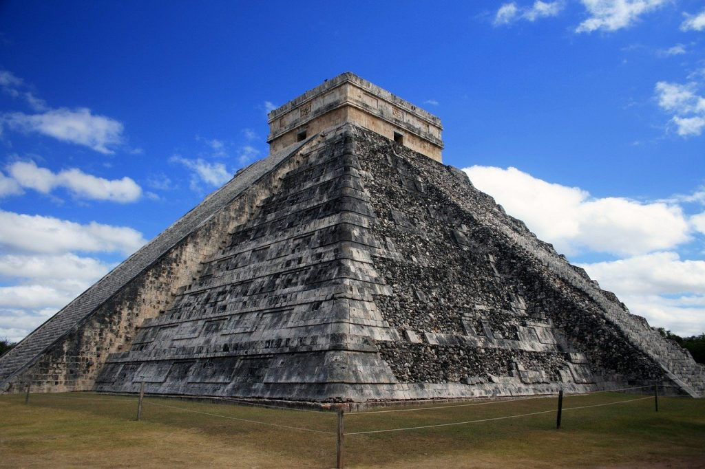 pyramid, maya, ancient